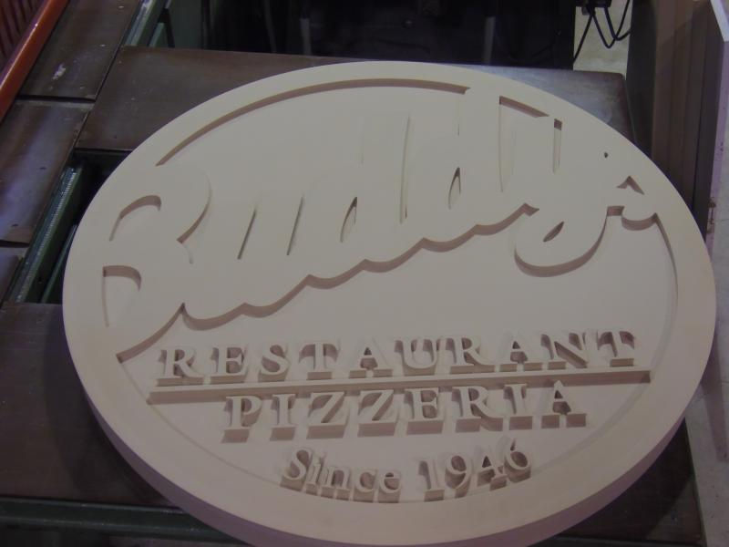 "Buddy's Sign from 3"" Precion board"